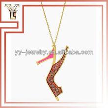 Shoe in Glitter Heel Pendant Necklace