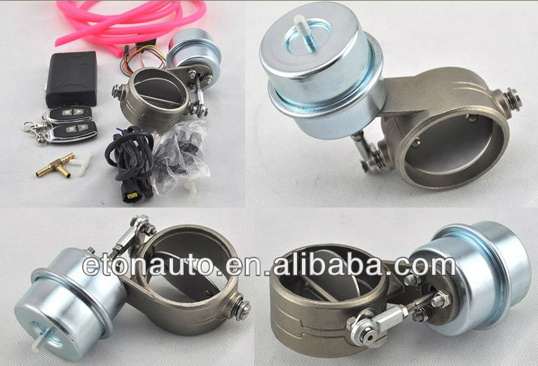 Universal Racing Remote Control Vacuum Exhaust Valve /Remote Exhaust Valve/electric exhaust Valv ...
