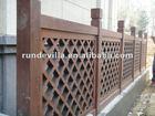RD polyurethane faux wood balcony railing