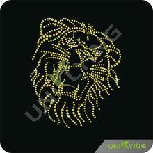 Panther head rhinestone transfer motif