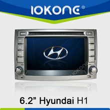 With 3G RDS function 6.2'' HD Touch screen Car DVD player for Hyundai H1 2012 with GPS navigation