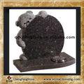 Pierre tombale de granit brun/pierre tombale monuments funéraires/teddy bear pierre tombale