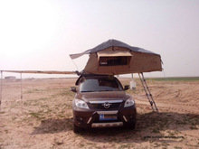 SUV Roof top Tent with car side awning for camping