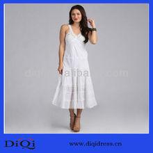 New Arrival Fashion Design White Crochet Sexy Casual Dress