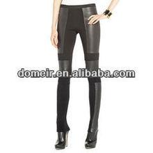 de cuero negro bodycon vendaje pantalones para las mujeres al por mayor de alta calidad pantalones hl655