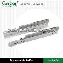 Soft closing drawer system buffer