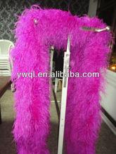8plys fuchsia ostrich feather boa