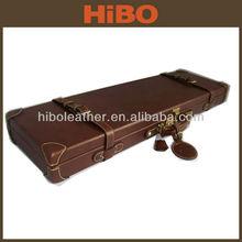 Genuine leather shooting gun case