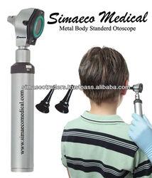 Metal body standard otoscope for hearing health