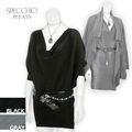 سترة اللباس دولمان الأكمام الأمومة رمادية سوداء إمرأة عصرية جديدة بلوزات 2012