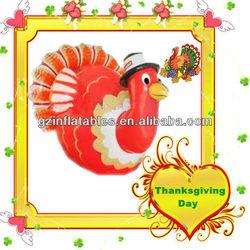 Thanksgiving Day PVC inflatable turkey cartoon balloon