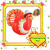 Thanksgiving Day PVC inflatable turkey cartoon balloon