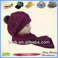 Preço de fábrica bela moda inverno chapéu feito malha de lã chapéus padrões meninas boina de lã chapéus da menina, lsa89