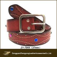 (ZY-7944)Fashion mens belts custom beaded western belts