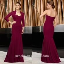 Jm. Bridals ücretsiz nakliye!!! Cy304 asil 2013 taban uzunluğu kırmızı şarap uzun elbise ceket mermaid anne gelin elbise