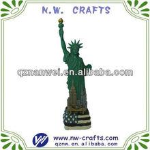 resina estatua de la libertad de artesanías para la decoración del hogar