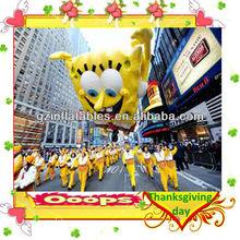 sky float inflatable spongebob cartoon for Turkey Day