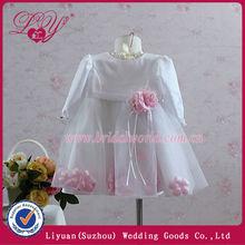 Hot sale!!! pink petals beaded sweetheart kids angel dress