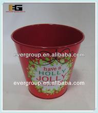 Round Zinc pot