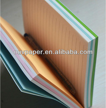 Cool black wooden paper notebook with colored page
