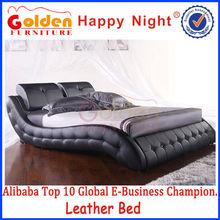 Muebles oro feliz de la noche barato moderna juegos de dormitorio HG814