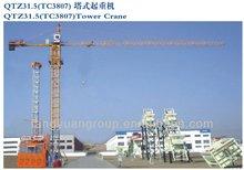 QTZ31.5(TC3807) tower crane 5 ton tower crane