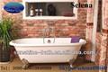 Doppel-pantoffel gusseisen badewannen sw-1003a, klassische bäder, freistehende badewannen