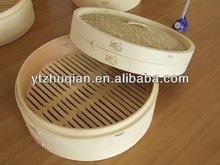 new design good quality logo printed dim sum bamboo food steamer