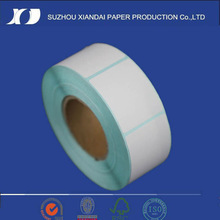 2014 cheap roll direct thermal label,white blank label, barcode label for Zebra