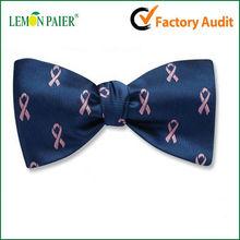 Custom Quaity Pink Ribbon Bow Tie