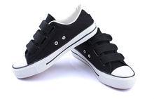 Wholesale canvas shoes ladies shoes buckle strap shoe style