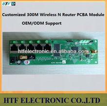 high speed ODM 150/300M desktop Wan+4p LAN 802.11b/g/n two External antenna 2.4G fiber optic Wireless wifi VPN AP Router module