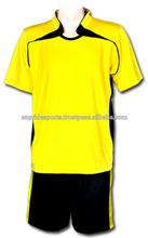 New yellow blue soccer jersey,full soccer uniform,football training jersey in stock