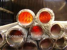 triple layers hard borosilicate glass solar vacuum tube