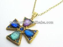 YN5060 big colorful crystal costume jewellery crosses