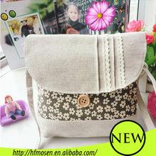 Plum blossom Korean fabrics linen cotton bag fashion ladies messenger bags 2013 C11