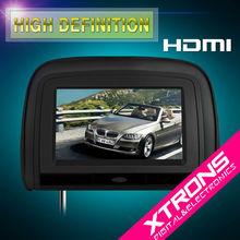 """HD909 Black: 2 x 9"""" Digital Screen Car Headrest DVD Player car Monitor with HDMI Port"""