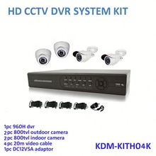 DIY Home Security 4ch 960H Dvr system camera and dvr kit , all in one box