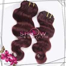5A Cheap 100% Virgin Malaysian/Peruvian/Indian/Brazilian Human Hair Body Wave #99J Human Hair Extension