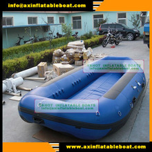 (CE)PVC material 6 passengers 4.3m inflatable raft boat with self-drain bottom