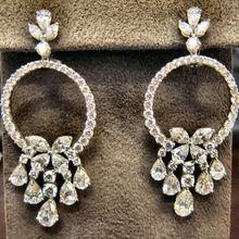 DIAMOND EARRING PEAR SHAPE 16 MARQUISE 8 ROUND 76 STONE