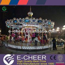 3 horse carousel/mini merry go round/mini children amusement rides