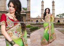 Green kundan Work Lace Designer Sarees