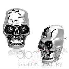Fashion jewelry skull crystal stud earrings