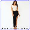 ODM&OEM manufacturies fashion design women cold-shoulder warrior dress party cocktail dress evening dress shkf53