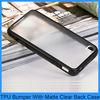 Black Gel Bumper With Matte Clear Hard Back Cover Case for iPhone 5s 5 5G(PT-I5S204)