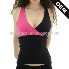 Wholesale Customize two tone rose red black women tank tops