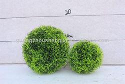 wholesale artificial grass ball /fake needle grass ball