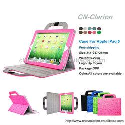 PU Leather Case For Apple iPad 5,HandBag Case For iPad 5