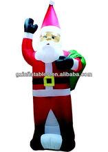 promotional inflatable Christmas Santa back gift cartoon